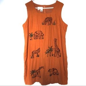 Vintage Betsy's Things Embroidered Animal Sundress